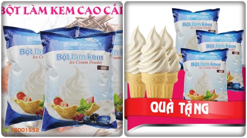 bột làm kem loại tốt cho máy làm kem Hải Âu
