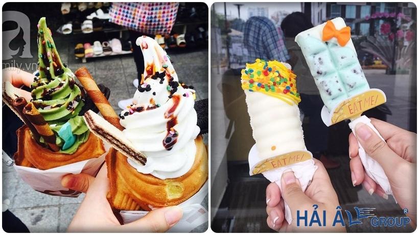 nghiên cứu thị trường với cửa hàng kem