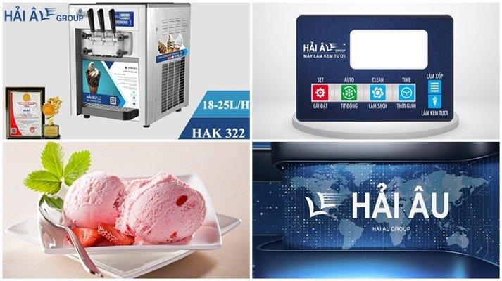 máy làm kem tươi Hak322
