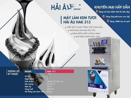 thông tin máy làm kem Hải Âu HAK313
