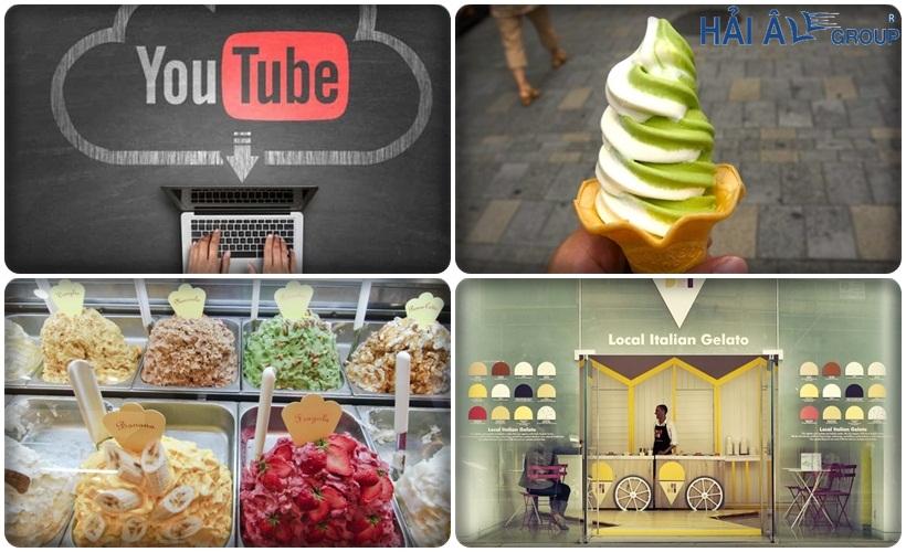 quảng cáo youtube cho cửa hàng kem