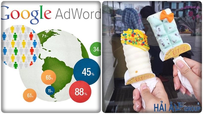 quảng cáo google adword cho cửa hàng kem