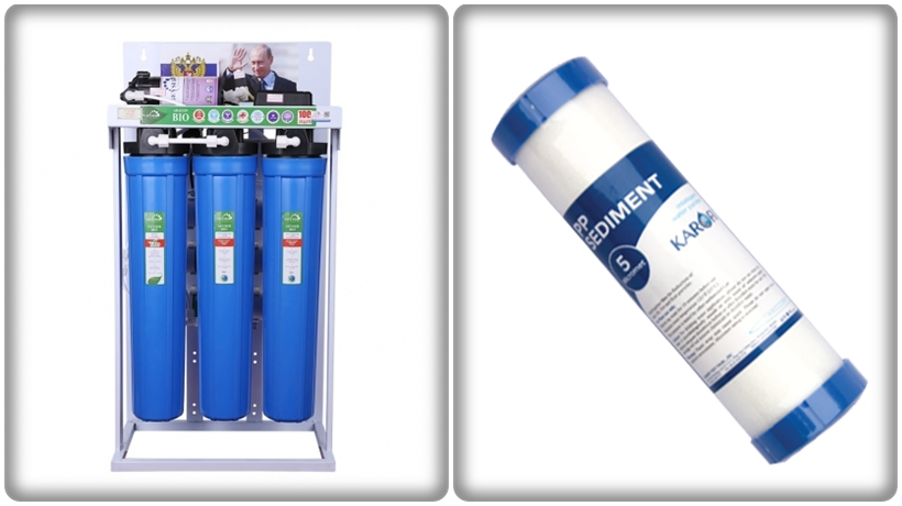 thiết bị lọc nước Ro bán công nghiệp cho máy làm đá sạch
