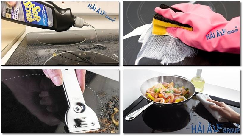 vệ sinh bếp từ công nghiệp đúng cách