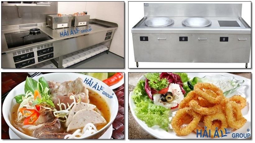 bếp từ công nghiệp chế biến được đa dạng món ăn