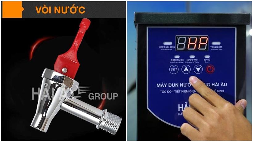 bảng hiển thị thông minh của máy đun nước nóng hải âu
