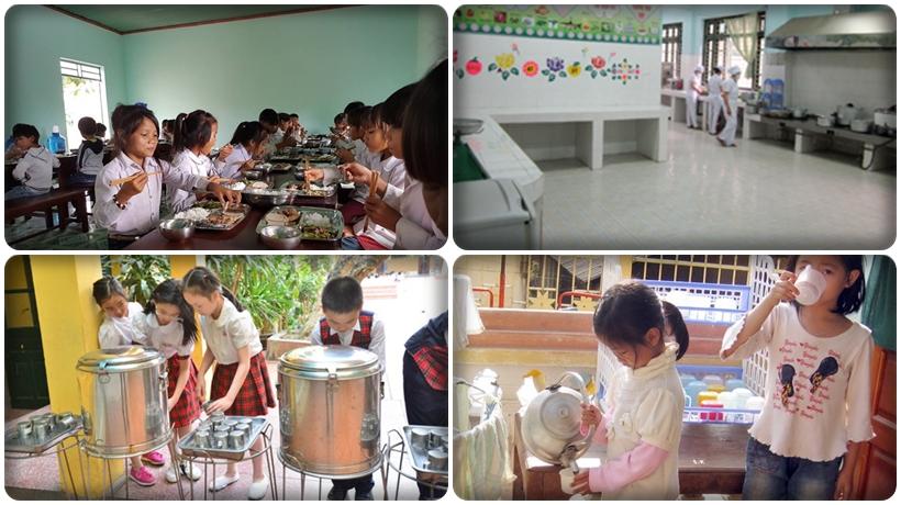 nguồn nước uống và nấu ăn tại các trường học